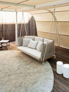 Hollywood Schaukel Dondolo - Rattan-, Loom- & Korb-möbel - Looms ... Schaukel Im Garten Rattan Holz