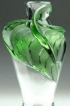 Other French Art Glass Stunning Leo Moser Designed Hand Painted Karlsbad Vase Outstanding Features Antiques