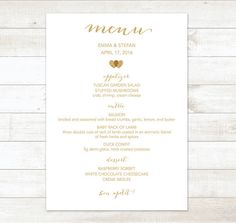 8 best menus wedding programs images diy wedding menu cards