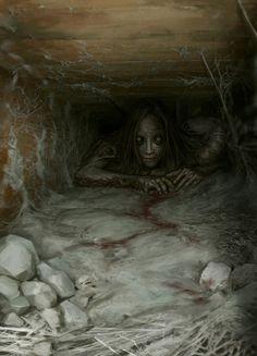 My favorite creepy fantasy art Creepy Kids, Creepy Art, Creepy Stuff, Macabre Art, Danse Macabre, Arte Horror, Horror Art, Creepy Horror, Scary