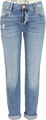 Mid wash Lexie slim boyfriend jeans