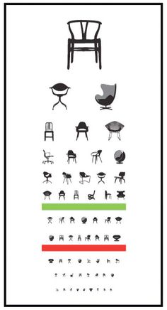 AWEsome! Iconic Chair Eye Chart