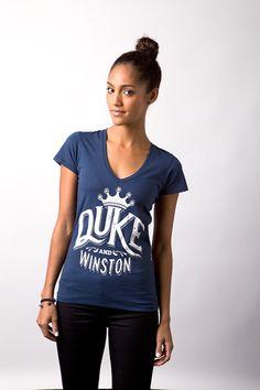 Duke and Winston Womens V-Neck (Navy)