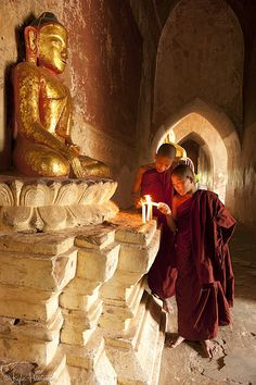 Buddhist Monks at Bagan https://www.facebook.com/pages/Healthy-Vibrant-You/381747648567846