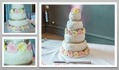 Beautiful 4 tier cake. With colour coordinated roses to match your Wedding Day's colour scheme.