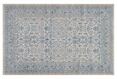 "Bennet Rug, Ivory/Blue $369 7'10"" x 9'10"" polypropylene"