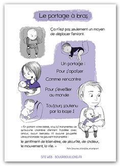 Affiche Petite enfance - portage à bras