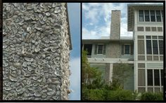 Oyster shell chimney, muted colors. Seaside, Florida