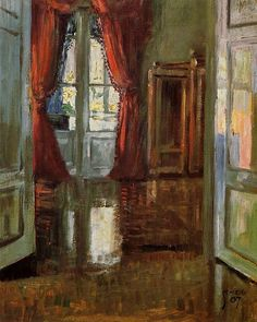 Egon Schiele View into the Apartment of Leopold and Marie Czihaczek 1907