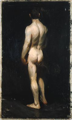 Edward Hopper        Standing Male Nude (1902-1904) by Edward Hopper