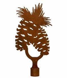 Large Pine Cone Metal Lamp Finial