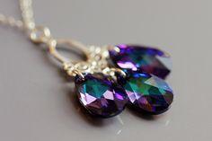 beaded necklace based on Swarovski crystals