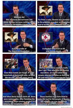 Stephen Colbert, people of Boston