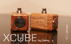 XCUBE Wood Mod by Oakley - 18350 [gv-XCUBEMod-18350] - $44.95 : GotVapes.com,  E-cigarette Supplies - Atomizers Cartomizers Mods Juice and more