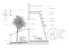Image 47 of 47 from gallery of Yingliang Stone Archive / Atelier Alter. Detail-The Tree Room & The Tilted Display Shelf Tectonic Architecture, Architecture Drawings, Architecture Portfolio, School Architecture, Amazing Architecture, Architecture Details, Section Drawing, Architect Drawing, Architectural Section