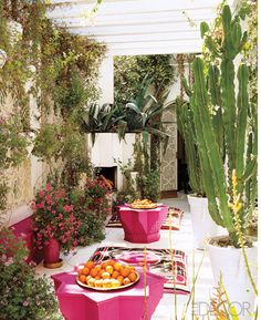 a Moroccan-inspired patio // gorgeous