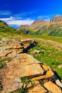 According to the photographer's description, this was taken from the boardwalk on the hike to Hidden Lake Overlook in Glacier National Park, Montana