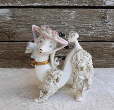 Vintage Spaghetti Poodle with Hat Figurine, Vintage Retro Kitschy Dog Figurine, Mid Century Poodle Figurine, Dog Lovers Gift , Poodle Lovers by VintageShopCreations on Etsy Etsy Vintage, Vintage Shops, Vintage Items, Dog Lover Gifts, Dog Lovers, Lovers Gift, Gold Collar, Vintage Beauty, Office Decor