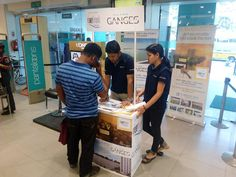 Hiland's Riverfront & Ganges Promotions - Our customer interaction team explaining the project details to a customer at Pantaloons, Kakurgachi