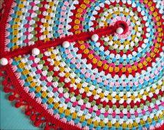 Made By Cute Stuff Inside - Crochet - Christmas Tree Skirt - Pattern from Cherry Heart
