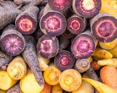 Cut Carrots at the Market. Fine Art Food Photography Print for Home Decor Wall Art. A group of carrots with cut ends showing different colors. Farmers markets often have wondeful displays and the colors and textures of this image caught my eye. ~~ SELECT DESIRED SIZE USING THE OPTIONS BUTTON ABOVE ADD TO CART. Available in: 5x7, 8x10, 11x14, 12x18, 16x20, 20x30, 24x36 prints.