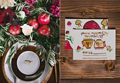 Fuchsia Holiday Styled Shoot. Paper Goodies by www.lovelypaperthings.com gorgeous photo by Berrett Photography