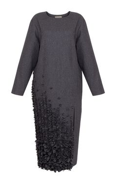 Grey Embellished Cashmere Dress by Ruban for Preorder on Moda Operandi