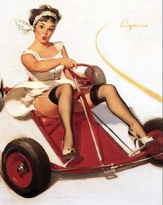 Gil Elvgren Vintage Pin Up Girl Illustration