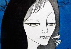 小林ドンゲ 『青い蝶』 191/200 直筆サインあり 大判 銅版画_画像1
