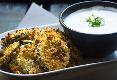 Cukkinichips mártogatóssal Menu Planning, My Recipes, Tapas, Macaroni And Cheese, Curry, Paleo, Chips, Rice, Chicken