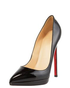 c7eea2d1928 Christian Louboutin Black Pointed Toe Heels