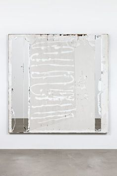 Oscar Tuazon Dialogue, 2014 Plaster, steel, mirror, silicone