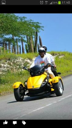 Mom and Dad, On Their  Can-am Spyder.