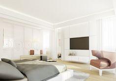 Wystrój wnętrza apartamentu w Warszawie na Żoliborzu. Pomieszczenie zdobią stylowe meble zaprojektowane w rezydencjonalnym stylu oraz designerskie lampy.