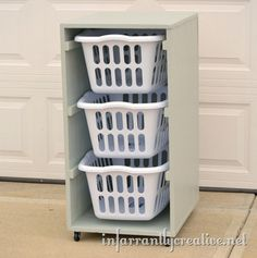 DIY Laundry Basket Holder - Wilker Do's