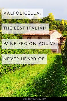 Have you heard of the Valpolicella wine region? It's located in northern Italy, has world class wines and sits in a stunning landscape. Want to find out more about this wonderful destination? Click through!