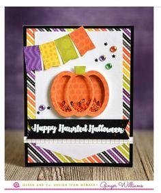 Queen & Co New Halloween Hoopla shaker card kits #QueenandCompany