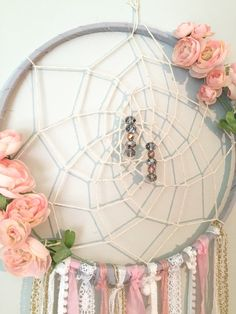 Bohemian Dreamcatcher Boho chic Peachy Pink by BlairBaileyDesign