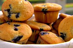 Best scratch blueberry muffins ever... better than a mix! Just keep sourcream and frozen blueberries on hand and enjoy these anytime.  Plus, you can make a few, refrigerate the batter and make some the next day... they come out just as good the second and third day!