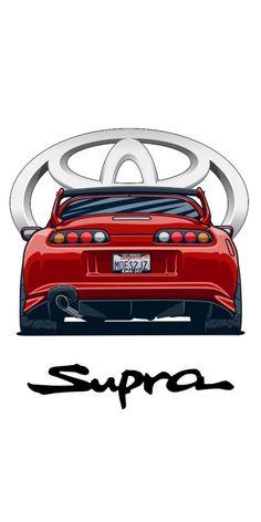 Toyota Supra Mk4, Toyota Cars, Toyota Celica, Jdm Wallpaper, Sports Car Wallpaper, Best Jdm Cars, Cool Car Drawings, Vinyl For Cars, Street Racing Cars