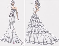 how to draw clothes | How to Draw Dresses Step by Step 2013 | Fashion Believe