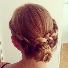 Lace braid Fishtail updo by Jenni's Hairdays Puoliranskalainen ja kalanruotonuttura