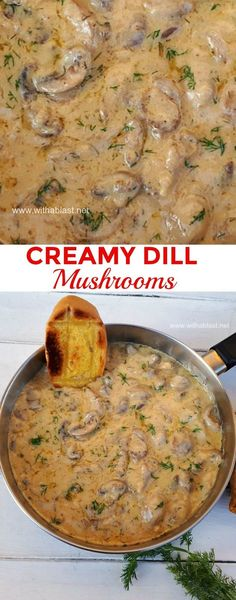 This is divine ! Imagine scooping up creamy Mushrooms with Garlic toast and dipping in the sauce ! Serve as an #Appetizer or #SideDish