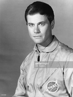 1967: Promotional studio portrait of American actor Larry Hagman wearing his uniform as NASA astronaut Major Tony Nelson from the television series, 'I Dream of Jeannie'.
