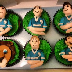 Leinster Rugby team cupcakes #cupcakes #rugby #sport
