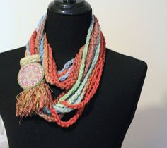 Loop Scarf Circle Infinity Scarf Circle Scarf by MaineCoonCrafts