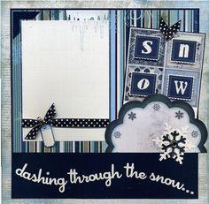 Dashing Through The Snow  Premade Winter by SusansScrapbookShack, $17.95