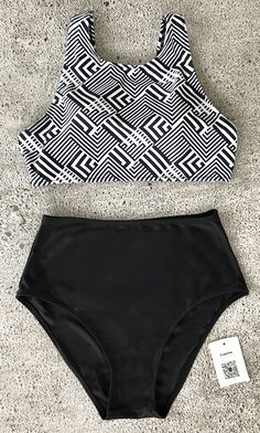 With vacays on the mind we can't help but love the Cupshe Hide And Seek Tank Bikini Set. Put chic piece into luggage for ultimate sunny beach vibes! Feature abstract print & high-waisted design~ Check it out!