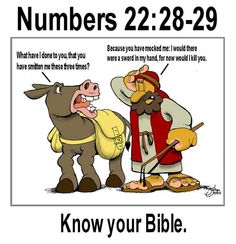 Balaams donkey study