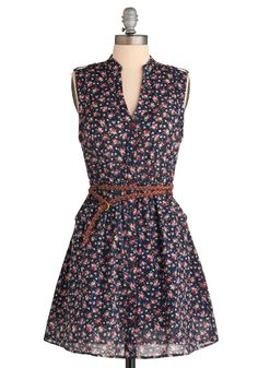 What You Waited Floral Dress. This item was picked by you in our Be the Buyer Program and will be sold exclusively online at ModCloth! #blue #modcloth